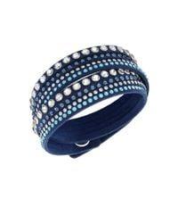 Swarovski | Slake Crystal Blue Wrap Bracelet | Lyst