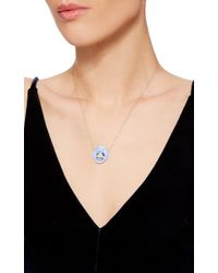 Alison Lou - Blue Pansy Necklace - Lyst