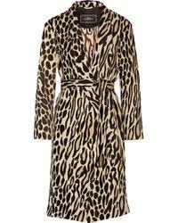 By Malene Birger - Brown Apponia Leopard-jacquard Coat - Lyst