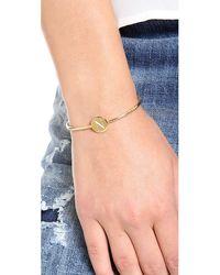Sarah Chloe - Metallic Ella Engraved Adjustable Bracelet - J - Lyst