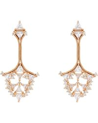 Fernando Jorge | Pink Diamond & Clear Topaz Fusion Triangular Earrings-Colorl | Lyst