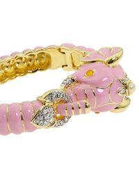 Kenneth Jay Lane | Pink Elephant Enamel Bracelet | Lyst