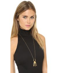 Madewell - Sara Fringe Pendant Necklace - True Black - Lyst