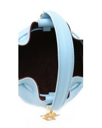 Sophie Hulme | Small Drawstring Bucket Bag - Sky Blue | Lyst