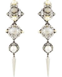 Erickson Beamon | Gray Spike Drop Earrings - For Women | Lyst