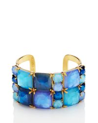 kate spade new york | Blue Swan Dive Wide Cuff | Lyst