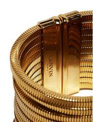 Lanvin - Metallic Cuff Bracelet - Lyst