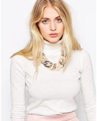 SELECTED | Pink Ressina Marbled Link Necklace | Lyst