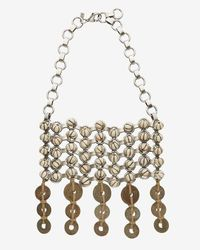 DANNIJO | Brown Gavina Beaded Bib Necklace | Lyst