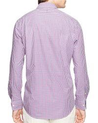 Polo Ralph Lauren | Purple Checked Estate Sportshirt for Men | Lyst