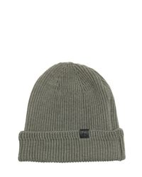 Golden Goose Deluxe Brand | Green Zip Pocket On Wool Knit Beanie Hat for Men | Lyst