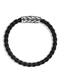 David Yurman - Metallic Chevron Bracelet In Black for Men - Lyst