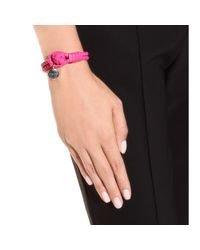 Bottega Veneta | Pink Knot Woven Leather Bracelet | Lyst