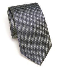 Eton of Sweden - Green Chevron Dash Silk Tie for Men - Lyst