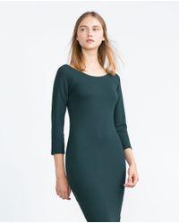 Zara | Green Long Tube Dress | Lyst