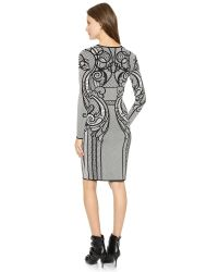 Temperley London Multicolor Lavinia Lace Fitted Dress Black Mix
