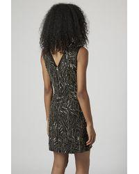 TOPSHOP Black Online Exclusive Chain Embellished Shift Dress