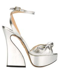 Charlotte Olympia | Vreeland Sculpted Metallic Sandals | Lyst