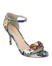 Ivanka Trump | Multicolor Gessa Embellished Open-toe Sandals | Lyst