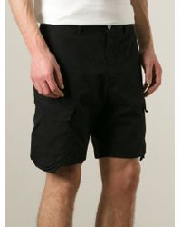 Stone Island Black Cargo Shorts for men