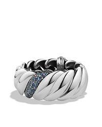 David Yurman | Blue Hampton Cable Bracelet With Diamonds | Lyst