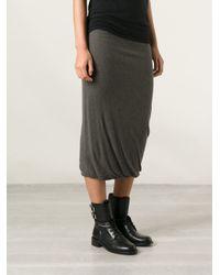 Rick Owens Lilies Brown Tube Skirt