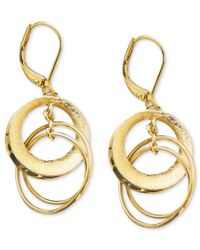 Anne Klein | Metallic Circle Drop Earrings | Lyst