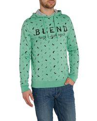 Blend - Green Pattern Crew Neck Pull Over Jumper for Men - Lyst