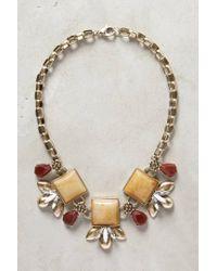 Anthropologie - Metallic Piedra Bib Necklace - Lyst