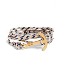Miansai | Natural Modern Anchor Rope Wrap Bracelet - New Khaki for Men | Lyst