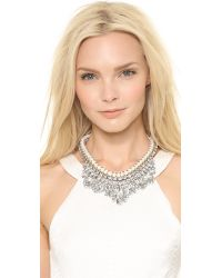 Adia Kibur   White Crystal Adorned Choker Necklace Clear   Lyst