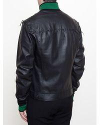 Lanvin - Green Western Leather Jacket for Men - Lyst