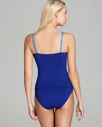 Tommy Bahama Blue Deck Piping Tankini Top