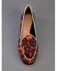 Aperlai Orange Gatsby Loafer