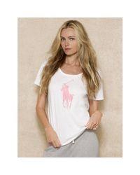 Ralph Lauren - White Pink Pony Tee - Lyst