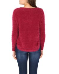 Izabel London | Textured Angora Style Knit Top | Lyst