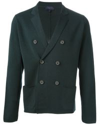 Lanvin Blue Double Breasted Cardigan for men