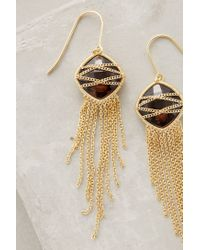 Anthropologie | Metallic Celaeno Fringed Drops | Lyst