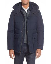 Cole Haan | Blue Quilted Down Parka for Men | Lyst