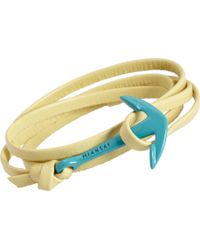 Miansai - Yellow Enamel Anchor Wrap Bracelet for Men - Lyst