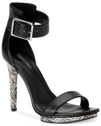Calvin Klein - Black Womens Vivian High Heel Sandals - Lyst