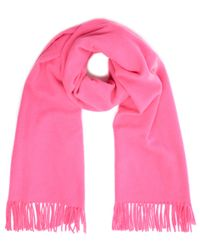 2nd Day Bright Pink Wool Knit Harmony Scarf