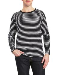 Judge & Jury - Red Buster Stripe Crew Neck Slim Fit T-shirt for Men - Lyst