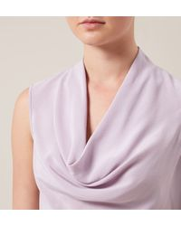 Hobbs | Purple Ava Cowl Top | Lyst