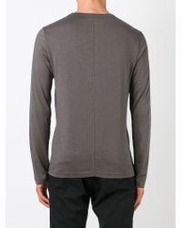 JOSEPH - Brown Long Sleeve T-shirt for Men - Lyst