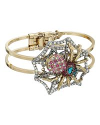 Betsey Johnson - Metallic Spider Lux Hinge Bracelet - Lyst