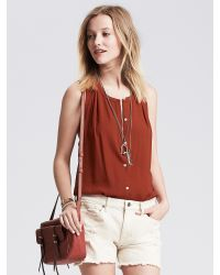 Banana Republic | Brown Racerback Sleeveless Blouse | Lyst