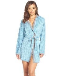 Kensie Green Print Plush Robe