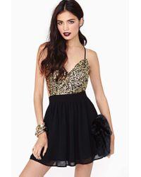 nasty gal golden hour sequin dress in black  lyst