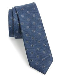 Calibrate | Blue 'java Dot' Cotton & Silk Tie for Men | Lyst
